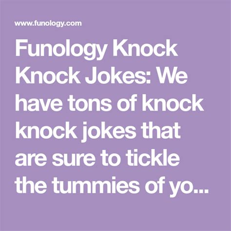Funny Knock Knock Jokes Funology Jokes and Riddles