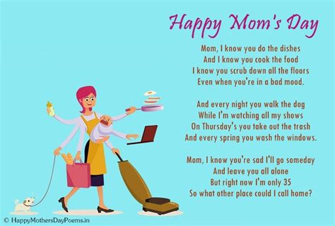 Funny Mothers Day Poems for Kids