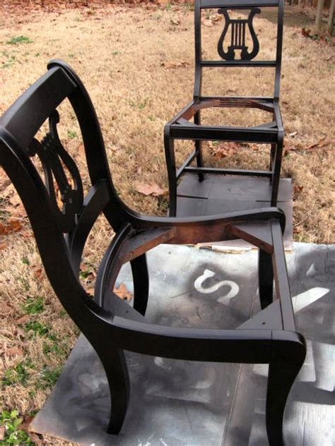 Furniture Updating with Black Spray Paint Southern