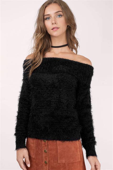 Fuzzy Black Sweater