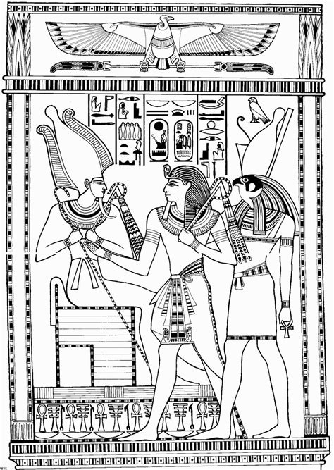 GODS AND GODDESSES of Ancient Egypt coloring pages
