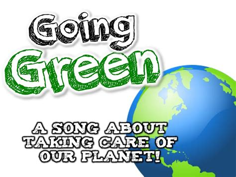 GOING GREEN Earth Day song for kids about the 3 R s