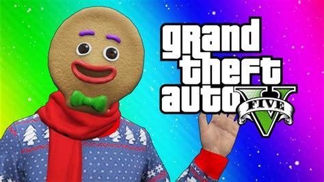 GTA 5 Online Funny Moments Snow in Los Santos Snowball