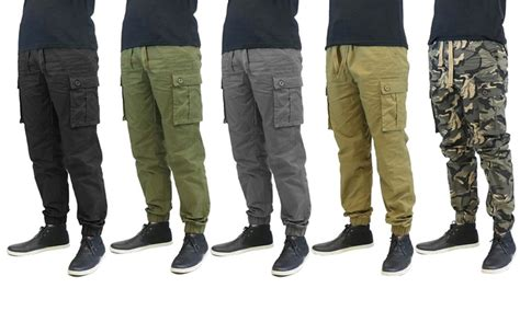 Galaxy by Harvic Men s Twill Cargo Joggers 2 Pack Sizes