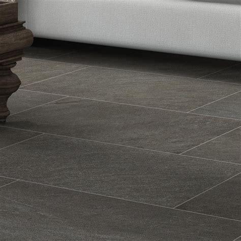 Galvano Charcoal Porcelain Floor Tile Lowe s