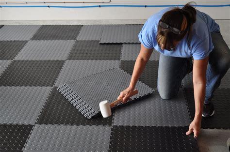 Garage Floor Tiles Easy to Lay Interlocking Virgin PVC