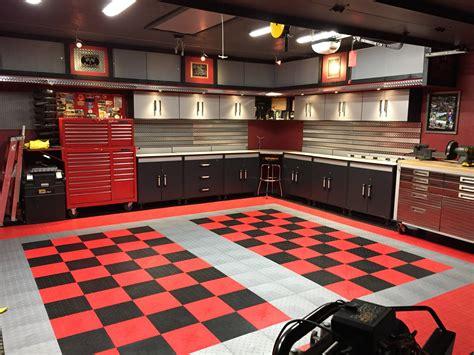 Garage Flooring Tile Cabinets Storage and Organization