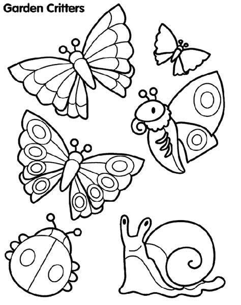 Garden Critters Coloring Page crayola
