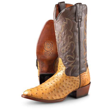 Genuine Full Quill Ostrich Dan Post Boots