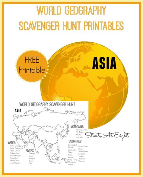 Geography Online Scavenger Hunt mowyn