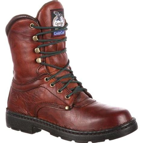 Georgia Boot Men s 8 in Eagle Light Lace Up Work Boot at