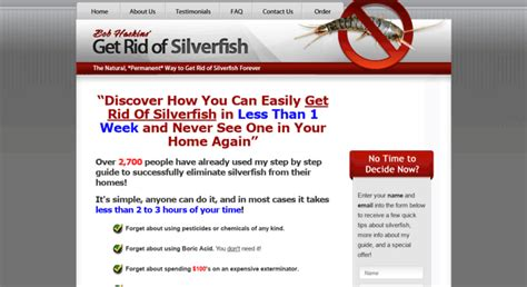 Get Rid of Silverfish A Step by Step Guide by Bob Haskins
