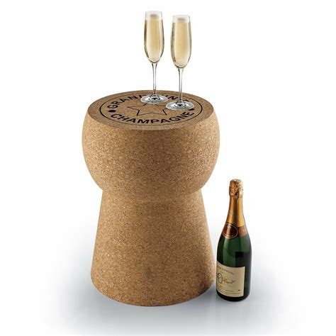 Giant Champagne Cork Stool Table Wine Enthusiast