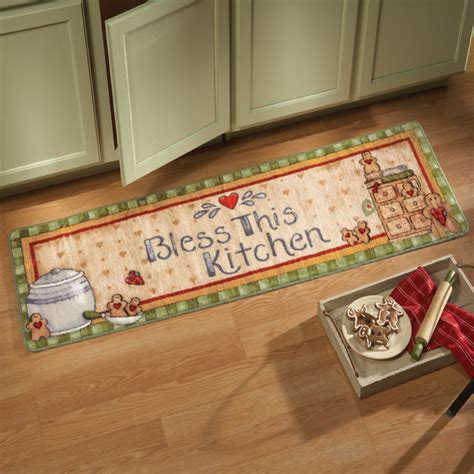 Gingerbread Kitchen Runner Rug from Collections Etc