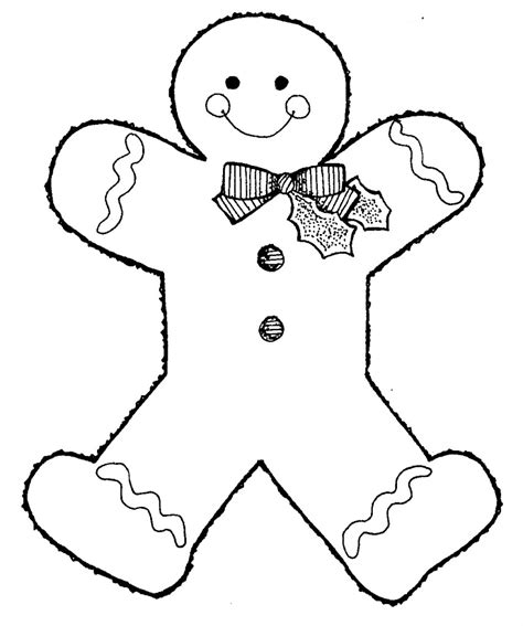 Gingerbread Man Online Coloring Page TheColor