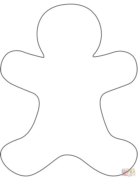 Gingerbread Man Printable Templates Coloring Pages