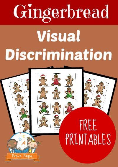 Gingerbread Visual Discrimination Printable Pre K Pages