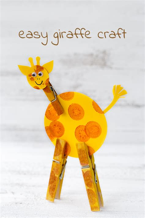 Giraffe Crafts for Kids Making giraffes with easy to make