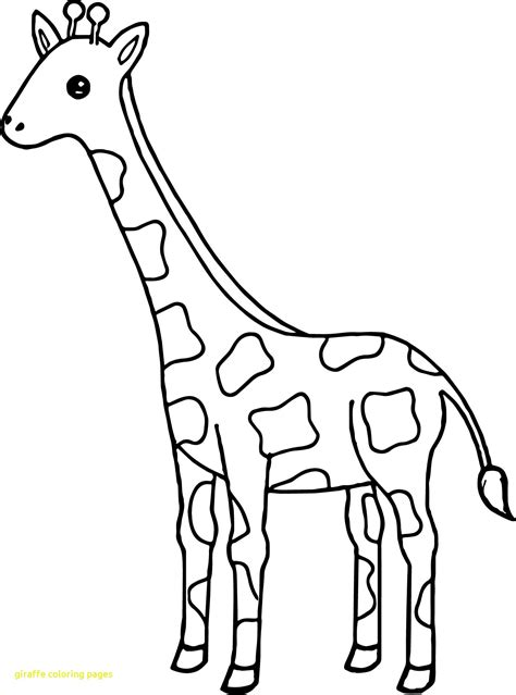 Giraffe Printable Templates Coloring Pages