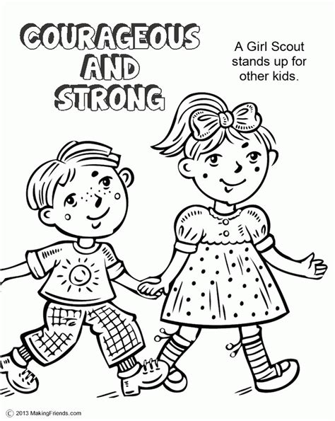 Girl Scout Coloring Pages 14339 coloringpagefree