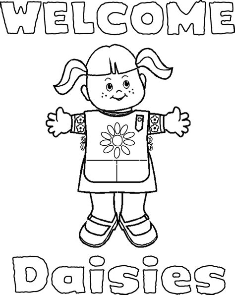 Girl Scout Coloring Pages Coloring Home