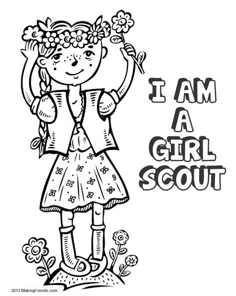 Girl Scout Law Coloring Book MakingFriends