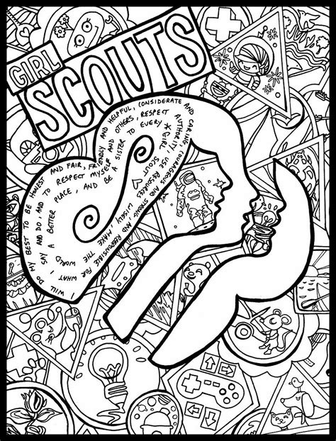 Girl Scouts Coloring Pages Bestofcoloring
