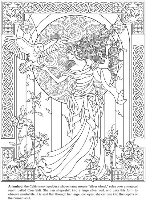 Goddesses Coloring Book Dover Publications