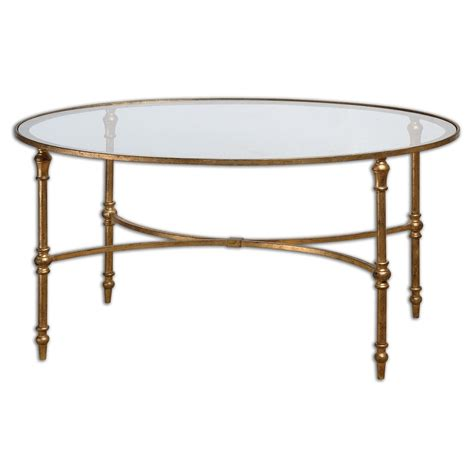 Gold Leaf Coffee Table Traditional Coffee Tables by