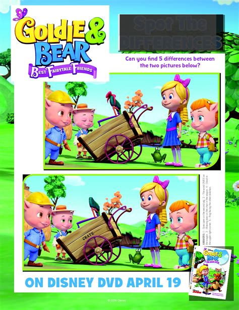 Goldie Bear Coloring Page Disney Junior