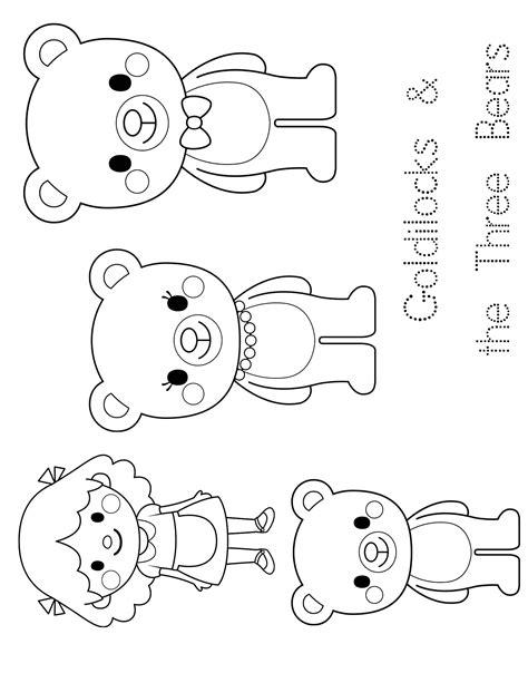 Goldilocks Coloring Page The Three Bears