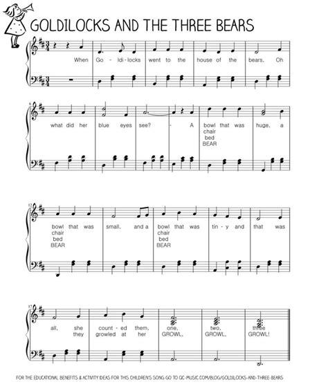 Goldilocks and the Three Bears Let s Play Music