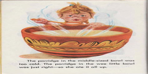 Goldilocks and the Three Bears Porridge Recipe