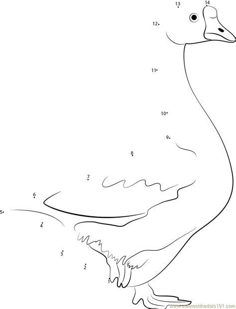 Goose Dot to Dot 1 9 Kidzone Educational Worksheets