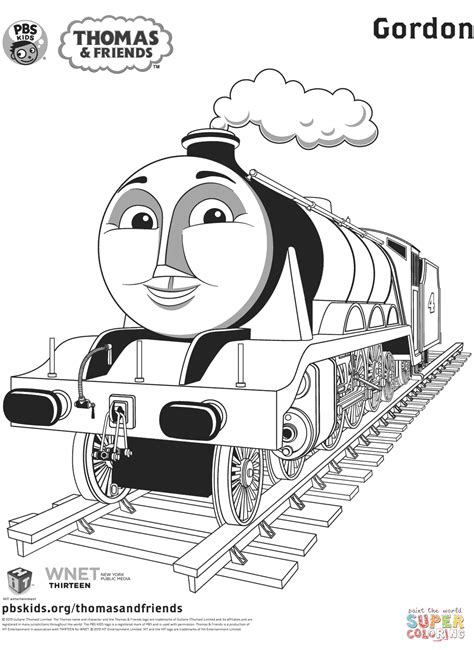 Gordon from Thomas Friends coloring page Free