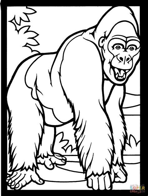 Gorilla Coloring Page ReallyColor
