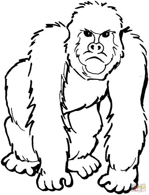 Gorilla Coloring Pages Color Me Good