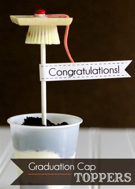 Graduation Hat Toppers and Straws Lil Luna