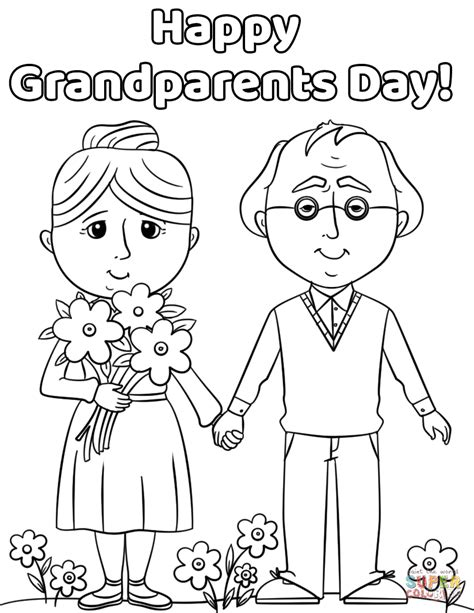 Grandparents Day Coloring Pages Sheets and Pictures