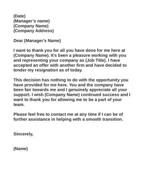 grateful resignation letter sample grateful resignation