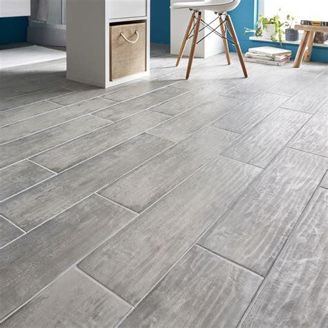 Gray Wood Effect Porcelain Floor Tile The Home Depot