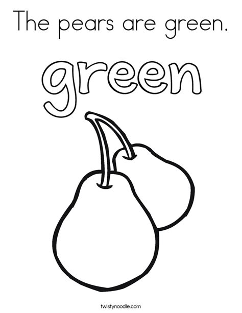 Green Coloring Pages Twisty Noodle