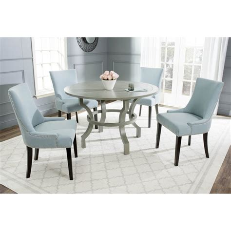 Grey Ash Finish Round Dining Table Home Goods Overstock