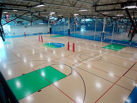 Gymnasium Flooring Seamless Floors for Volleyball