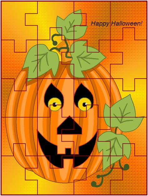 HAPPY HALLOWEEN Free Kids Games Coloring Jigsaw