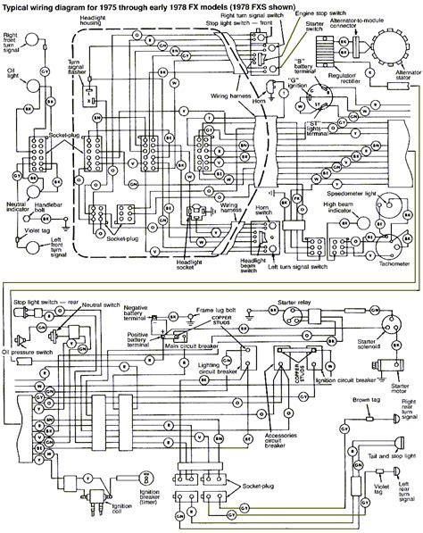 1978 shovelhead wiring diagram images shovelhead wiring diagram harley shovel 1975 1978 harley davidson fx fxe wiring