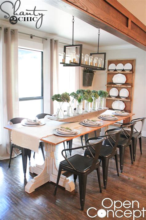HGTV Open Concept Dining Table Free Plans Shanty 2 Chic