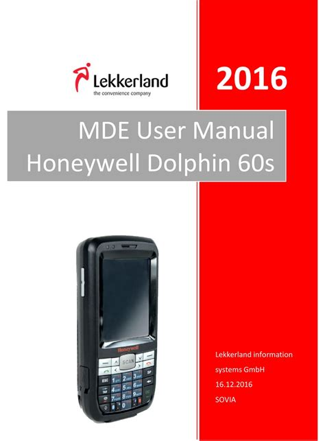 HONEYWELL DOLPHIN 60S USER MANUAL Pdf Download