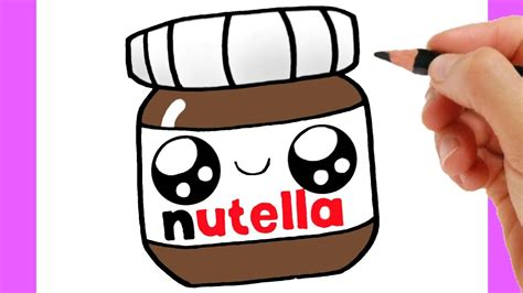 HOW TO DRAW A NUTELLA CUTE Easy step by step YouTube
