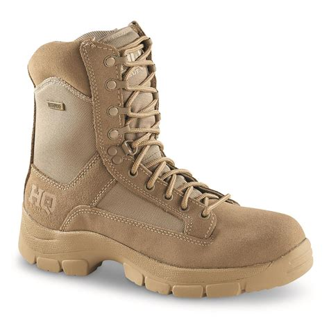 HQ ISSUE Men s Waterproof 8 Side Zip Desert Boots